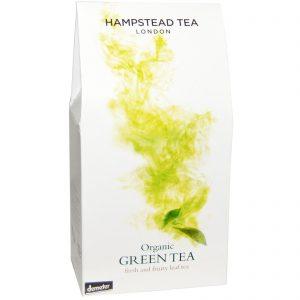 Hampstead Tea, Chá Verde Orgânico, 3.53 oz (100g)   Comprar Suplemento em Promoção Site Barato e Bom
