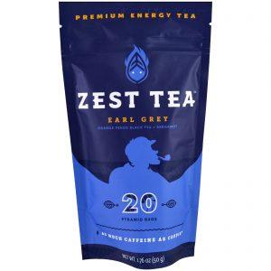 Zest Tea LLZ, Premium Energy Tea, Earl Grey, 20 Pyramid Bags, 1.76 oz (50 g) Each   Comprar Suplemento em Promoção Site Barato e Bom