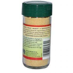 Frontier Natural Products, Raiz de Gengibre Orgânico, Moída, 1,50 onças (42 g)   Comprar Suplemento em Promoção Site Barato e Bom