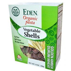 Eden Foods, Macarrão orgânico,conchas de vegetais, 12 oz (340 g)   Comprar Suplemento em Promoção Site Barato e Bom