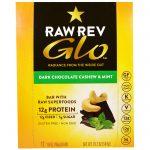 Raw Revolution, Glo, Chocolate Meio-Amargo, Castanha de Caju e Menta, 12 Barras, 1,6 oz (46 g) cada   Comprar Suplemento em Promoção Site Barato e Bom