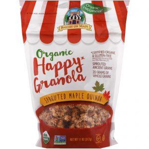 Bakery On Main, Orgânica, Granola Feliz, Quinoa Germinada e Maple, 11 oz (312 g)   Comprar Suplemento em Promoção Site Barato e Bom