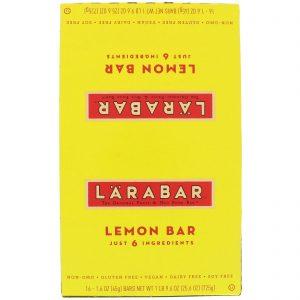 Larabar, Barra de limão, 16 barras, 1,6 oz (45 g) cada   Comprar Suplemento em Promoção Site Barato e Bom