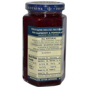 Chantaine, Deluxe Preserves, Framboesa Vermelha e Romã, 11,5 oz (325 g)   Comprar Suplemento em Promoção Site Barato e Bom