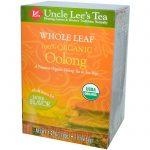 Uncle Lee's Tea, Chá de Oolong 100% Orgânico, Folhas Inteiras, 18 Saquinhos, 36 g (1,27 oz)   Comprar Suplemento em Promoção Site Barato e Bom