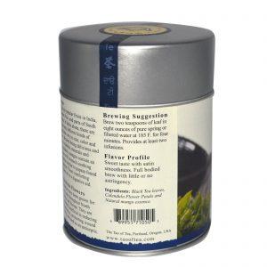 The Tao of Tea, Mistura de Chá Preto Aromatizado, Preto + Manga, 4 onças (115 g)   Comprar Suplemento em Promoção Site Barato e Bom