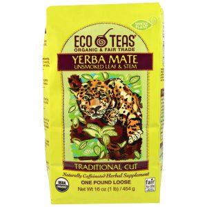 Eco Teas, Yerba Mate, Folha e Caule Não Defumados, 445 g   Comprar Suplemento em Promoção Site Barato e Bom