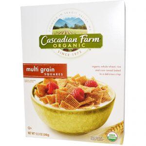 Cascadian Farm, Orgânico, Quadradinhos de Grãos Sortidos, 12.3 oz (348 g)   Comprar Suplemento em Promoção Site Barato e Bom