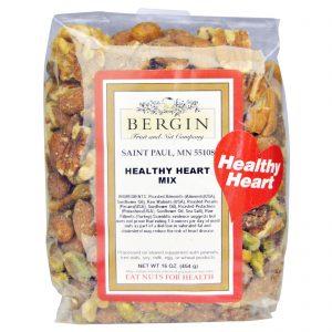 Bergin Fruit and Nut Company, Mistura Coração Saudável, 16 oz (454 g)   Comprar Suplemento em Promoção Site Barato e Bom