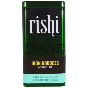 Rishi Tea, Deusa do Ferro, Chá Oolong com Folhas Soltas, Abricó e Figo, 1,76 oz (50 g)   Comprar Suplemento em Promoção Site Barato e Bom