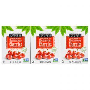 Stoneridge Orchards, Montmorency Cherries, Whole Dried Tart Cherries, Brick Pack (6 Boxes), 0.75 oz (21 g) Each   Comprar Suplemento em Promoção Site Barato e Bom