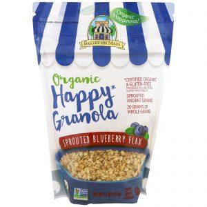 Bakery On Main, Organic, Happy Granola, dianela germinada, 11 oz (312 g)   Comprar Suplemento em Promoção Site Barato e Bom