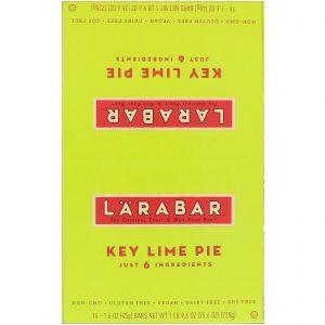 Larabar, Torta de lima comum, 16 barras, 1,6 oz (45 g) cada   Comprar Suplemento em Promoção Site Barato e Bom