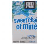 Good Earth Teas, Chá Chai, Chai Doce de Mina, 18 Sacos de Chá, 1,43 oz (40,5 g)   Comprar Suplemento em Promoção Site Barato e Bom