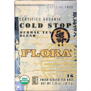 Flora, Chá para resfriados orgânico certificado, sem cafeína, 16 sachês, 1,35 oz. (38,4 g)   Comprar Suplemento em Promoção Site Barato e Bom