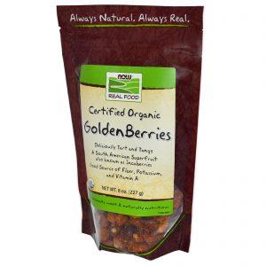 Now Foods, Real Food, Golden Berry Orgânica Certificada, 227 g (8 oz)   Comprar Suplemento em Promoção Site Barato e Bom