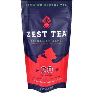 Zest Tea LLZ, Premium Energy Tea, Cinnamon Apple, 20 Pyramid Bags, 1.76 oz (50 g) Each   Comprar Suplemento em Promoção Site Barato e Bom