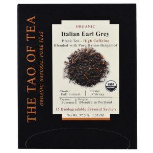 The Tao of Tea, Chá Orgânico Earl Grey Italiano, 15 Saquinhos Piramidais, 37,5 g (1,32 oz)   Comprar Suplemento em Promoção Site Barato e Bom