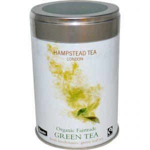 Hampstead Tea, Chá Verde Orgânico Fairtrade, 3,53 oz (100 g)   Comprar Suplemento em Promoção Site Barato e Bom