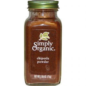 Simply Organic, Pimenta Chipotle Orgânica em Pó, 75 g   Comprar Suplemento em Promoção Site Barato e Bom