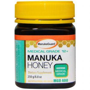 Manuka Guard, Mel de Manuka, Qualidade Medicinal 12 +, 8,8 oz (250 g)   Comprar Suplemento em Promoção Site Barato e Bom