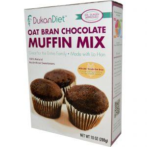 Dukan Diet, Mix de Muffins de Chocolate e Aveia, 10 oz (288 g)   Comprar Suplemento em Promoção Site Barato e Bom