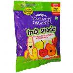 YumEarth, Lanches de frutas, banana, cereja, pêssego e morangos, 12 pacotes, 2 oz. (56,7 g) cada   Comprar Suplemento em Promoção Site Barato e Bom