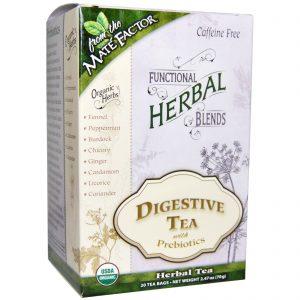 Mate Factor, Compostos de Ervas Funcionais Orgânicas, Chá Digestivo com Prebióticos, 20 Sachês de Chá, (3,5 g) Cada   Comprar Suplemento em Promoção Site Barato e Bom