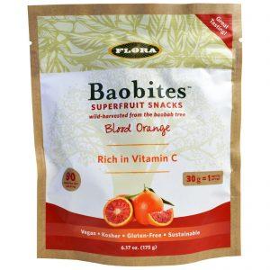 Flora, Blood Orange Baobites, 6.17 oz (175 g)   Comprar Suplemento em Promoção Site Barato e Bom