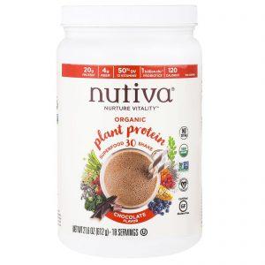 Nutiva, Proteína Vegetal Orgânica, Sabor Chocolate, 612g   Comprar Suplemento em Promoção Site Barato e Bom