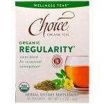 Choice Organic Teas, Wellness Teas, Orgânico, Regularidade, 16 Sachês - 0.7 oz (2 g) Cada   Comprar Suplemento em Promoção Site Barato e Bom