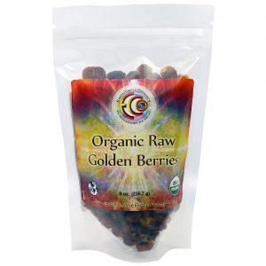 Earth Circle Organics, Berry Dourado Orgânico Cru, 226,7 g (Discontinued Item)   Comprar Suplemento em Promoção Site Barato e Bom