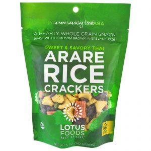 Lotus Foods, Biscoitos de Arroz Arare, Thai Agridoce, 5 oz (142 g)   Comprar Suplemento em Promoção Site Barato e Bom