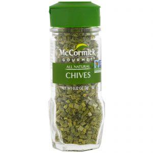 McCormick Gourmet, Todo Natural, Cebolinha, 0.12 oz (3 g)   Comprar Suplemento em Promoção Site Barato e Bom