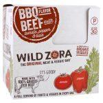 Wild Zora Foods LLC, Barra de Carne e Vegetais, Churrasco com Tomate, Pimentão e Couve, 10 Pacotes, 1,1 oz (31 g) Cada   Comprar Suplemento em Promoção Site Barato e Bom