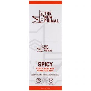The New Primal, Palitos de carne Grass-Fed, picantes, 20 palitos, 30 g cada   Comprar Suplemento em Promoção Site Barato e Bom