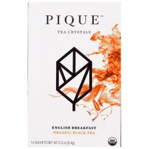 Pique Tea, Café da manhã inglês, Chá preto orgânico, 12 Sachês, 0,3 oz (8,4 g)   Comprar Suplemento em Promoção Site Barato e Bom