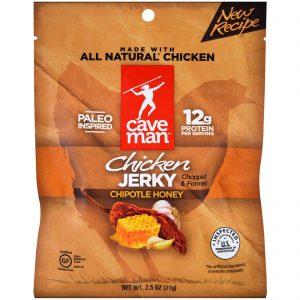 Caveman Foods, Jerky, Chipotle Honey Chicken, 2.5 oz (71 g)   Comprar Suplemento em Promoção Site Barato e Bom
