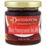 Davidson's Tea, Orgânico, Geleia de Chá de Romã Branco, 5 oz (142 g)   Comprar Suplemento em Promoção Site Barato e Bom