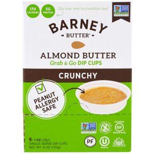 Barney Butter, Manteiga de Amêndoas, Copos de Imersão Grab & Go, Crocante, 6 Copos de Imersão de Porção Única, 28 g (1 oz) Cada   Comprar Suplemento em Promoção Site Barato e Bom