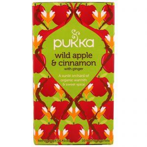 Pukka Herbs, Maçã selvagem e canela com gengibre, 20 sachês de chá de frutas, 1,41 oz (40 g)   Comprar Suplemento em Promoção Site Barato e Bom