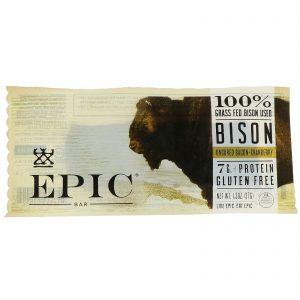 Epic Bar, Bisão, Barra de Bacon Não Curado + Cranberry, 12 Barras, 37 g Cada (Discontinued Item)   Comprar Suplemento em Promoção Site Barato e Bom