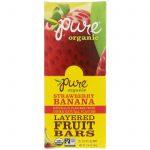 Pure Bar, Orgânico, Barras de Fruta em Camadas, Morango e Banana, 20 Barras, 18 g Cada   Comprar Suplemento em Promoção Site Barato e Bom