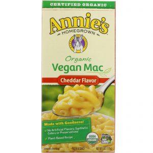 Annie's Homegrown, Macarrão Orgânico Vegano, Sabor de Cheddar, 6 oz (170 g)   Comprar Suplemento em Promoção Site Barato e Bom