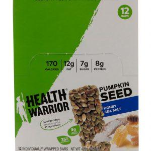 Health Warrior, Inc., Semente de Abóbora, Mel e Sal Marinho, 12 Barrinhas, 14,8 oz (420 g)   Comprar Suplemento em Promoção Site Barato e Bom