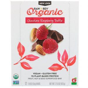 Raw Revolution, Orgânica, Trufa de Chocolate e Framboesa, 12 Barras, 1,8 oz (51 g) Cada   Comprar Suplemento em Promoção Site Barato e Bom