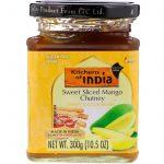Kitchens of India, Sweet Sliced Mango Chutney, Sweet & Sour Relish, Mild, 10.5 oz (300 g)   Comprar Suplemento em Promoção Site Barato e Bom