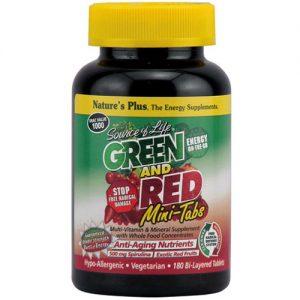Nature's Plus Source Of Life Green And Red Mini-Tabletes - 180 Tabletes   Comprar Suplemento em Promoção Site Barato e Bom