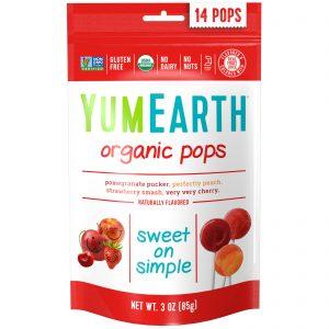 YumEarth, Pirulitos Orgânicos, Sabores Sortidos, 14 Pirulitos, 3 oz (85 g)   Comprar Suplemento em Promoção Site Barato e Bom