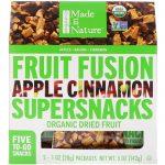 Made in Nature, Fusão de Frutas Orgânicas, Supersnacks de Maçã e Canela, 5 Pacotes, 28 g Cada   Comprar Suplemento em Promoção Site Barato e Bom